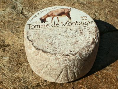 Fromages de chèvre de la ferme Les Taillades. Tomme de montagne